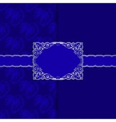 Vintage template frame design for greeting card vector image