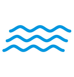 Water waves flat icon symbol vector