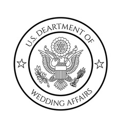 Wedding affairs fake seal vector image