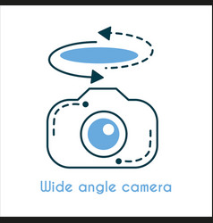 wide angle camera flat line icon vector image