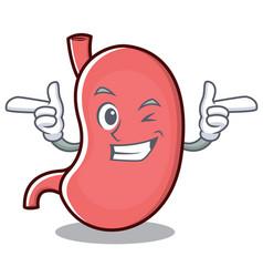 Wink stomach character cartoon mascot vector