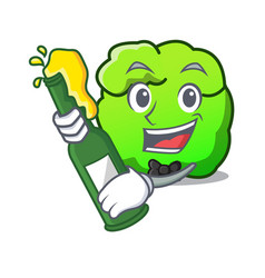 With beer shrub mascot cartoon style vector