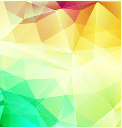 yellow and green abstract mosaic background with vector image
