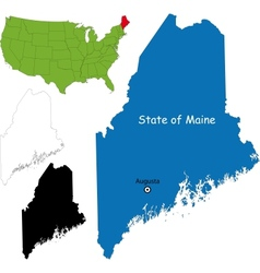 Maine map vector image vector image