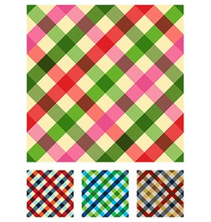 Multicolored tablecloth texture pattern vector image