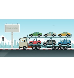 Truck transport vehicles vector image