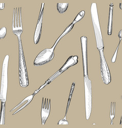 Cutlery background vector