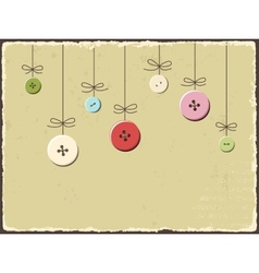 Vintage greeting card with buttons vector image vector image