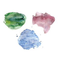 watercolor spots set pastel colors vector image