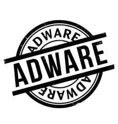 Adware rubber stamp vector image vector image