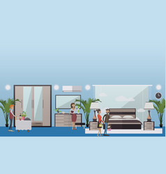 hotel suite in flat style vector image vector image