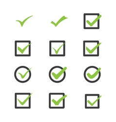 marks of approval vector image