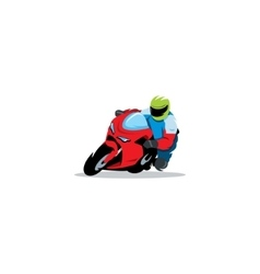 Motorcycle races sign vector image vector image