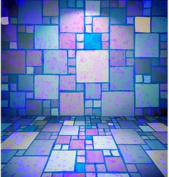 Room with stained squares ornament vector