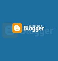 blogger logo background image vector image