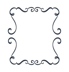 decorative frames and border standard rectangle vector image