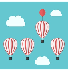 Hot air balloons competition vector
