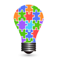 light bulb puzzles vector image