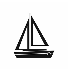 Small boat icon simple style vector image vector image