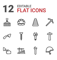 12 build icons vector image
