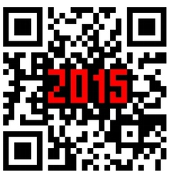 2015 New Year counter QR code vector