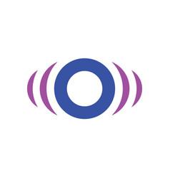 Abstract circle sensor logo image vector