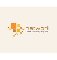 Abstract network logo icon concept Logotype vector