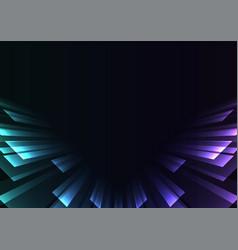 Angle overlap stripe rush in dark background vector