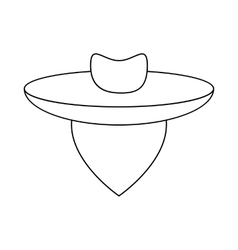 Argentine gaucho icon outline style vector