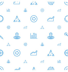 Arrow icons pattern seamless white background vector