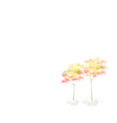 autumn tree design water color style illu vector image