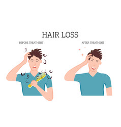 Baldness and hair loss problems vector