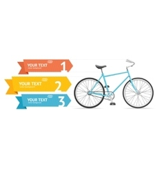 Bike Option Banner vector image