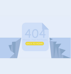 breakage page 404 not found vector image