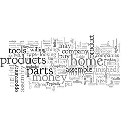 Build income with assembly work at home vector