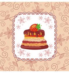 Cake pattern background vector image