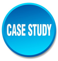 Case study blue round flat isolated push button vector