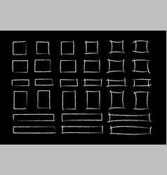 Chalk marker style square frame set vector