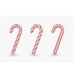 christmas candy cane isolated on transparent vector image