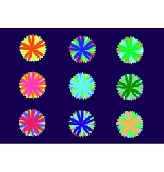 color patterns vector image
