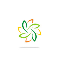 Colored abstract leaf motion beauty logo vector