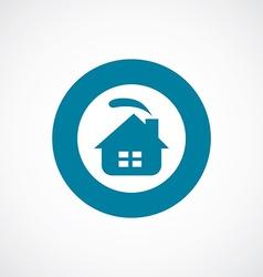 cozy home icon bold blue circle border vector image