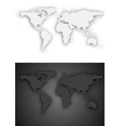 Dark and light grey world map design vector