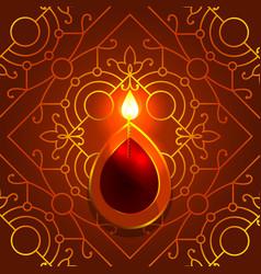 Diwali deepavali hindu festival 7 november diya vector