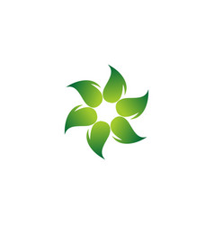 eco business logo vector image