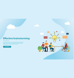Effective brainstorming concept for website vector