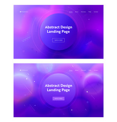 electric blue abstract circle shape landing page vector image