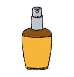 Elegant female perfume glamour aroma container vector
