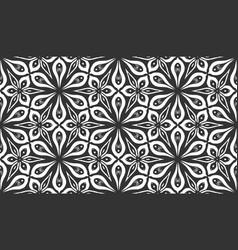 Flat arabic turkish fabric flower seamless pattern vector