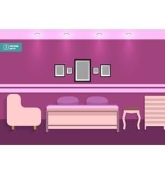 Flat interior bedroom vector